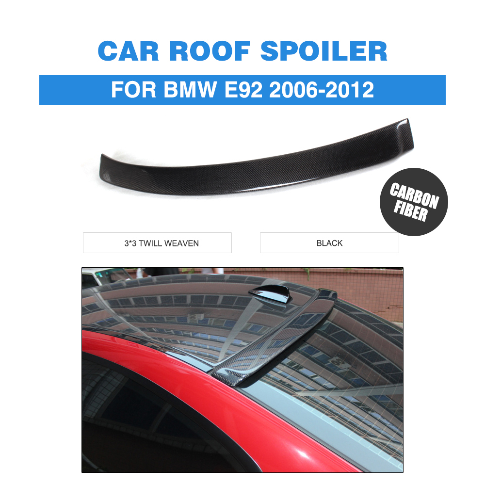 Carbon Fiber Rear Roof  Spoiler Wing Fit for BMW 3 Series E92 M3 2-Door 2007-2013 A Style Window Spoiler Car Accessories car accessories frp fiber glass vortex generator fit for 2002 2007 suabru impreza wrx sti 7th 9th gda gdb roof spoiler wing