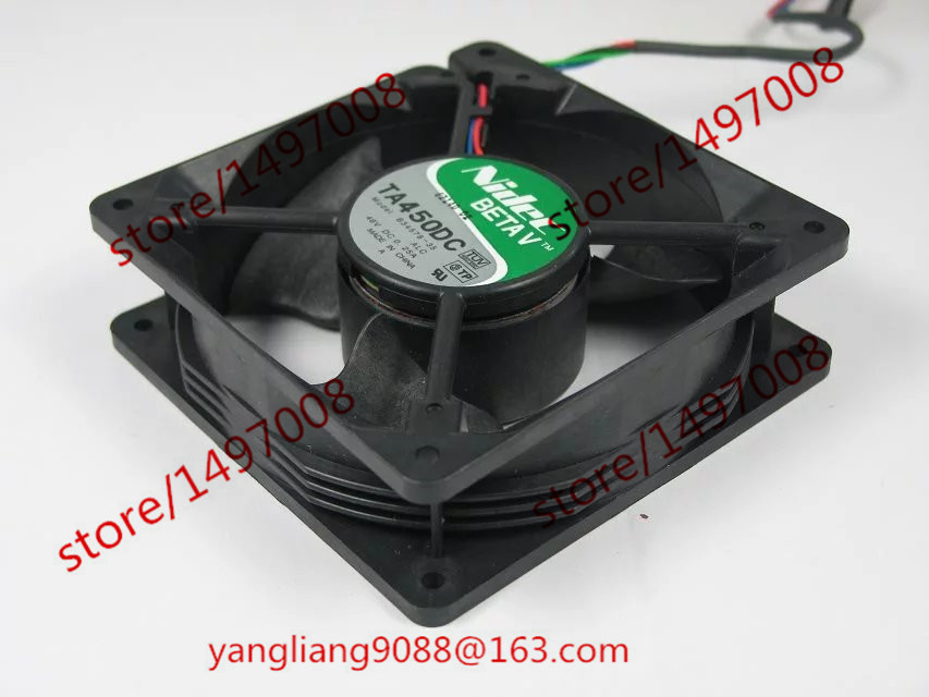 Nidec TA450DC,B34578-35 DC 48V 0.25A 4 120x120x32mm Server Square fan nidec d12f 24bs4 16bh2 dc 24v 0 70a 120x120x32mm server square fan