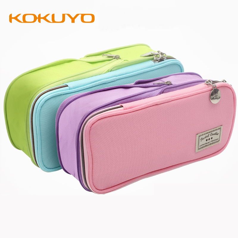 KUKUYO Zipper Pencil Case Beautiful Canvas Pencil Pouch Cute Pattern Fountain Kid Pen Bag Pen Pouch Japanese School Supplies