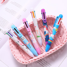 6PCS Arsmundi Cute Kawaii Multicolor Ballpoint Pen Unicorns 6 In 1 Colorful Stationery Creative School Office Supplies