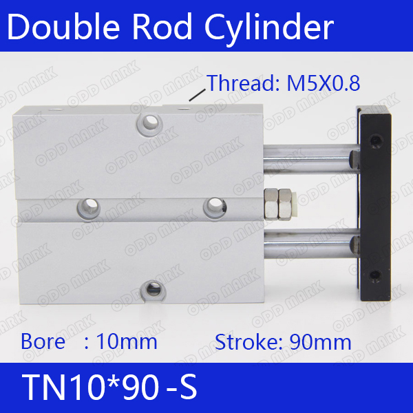 TN10*90-S Free shipping 10mm Bore 90mm Stroke Compact Air Cylinders TN10X90-S Dual Action Air Pneumatic Cylinder sda100 30 free shipping 100mm bore 30mm stroke compact air cylinders sda100x30 dual action air pneumatic cylinder