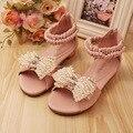 [Одиннадцать История] Девушки новый летний лук жемчуг принцесса shoes SS503-04