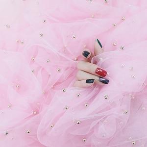 Image 3 - Perle Gaze ins Fotografie Hintergrund Tuch Foto Studio Requisiten Zubehör Hintergrund Dekoration für Kosmetische Nagel öl Telefon Fall