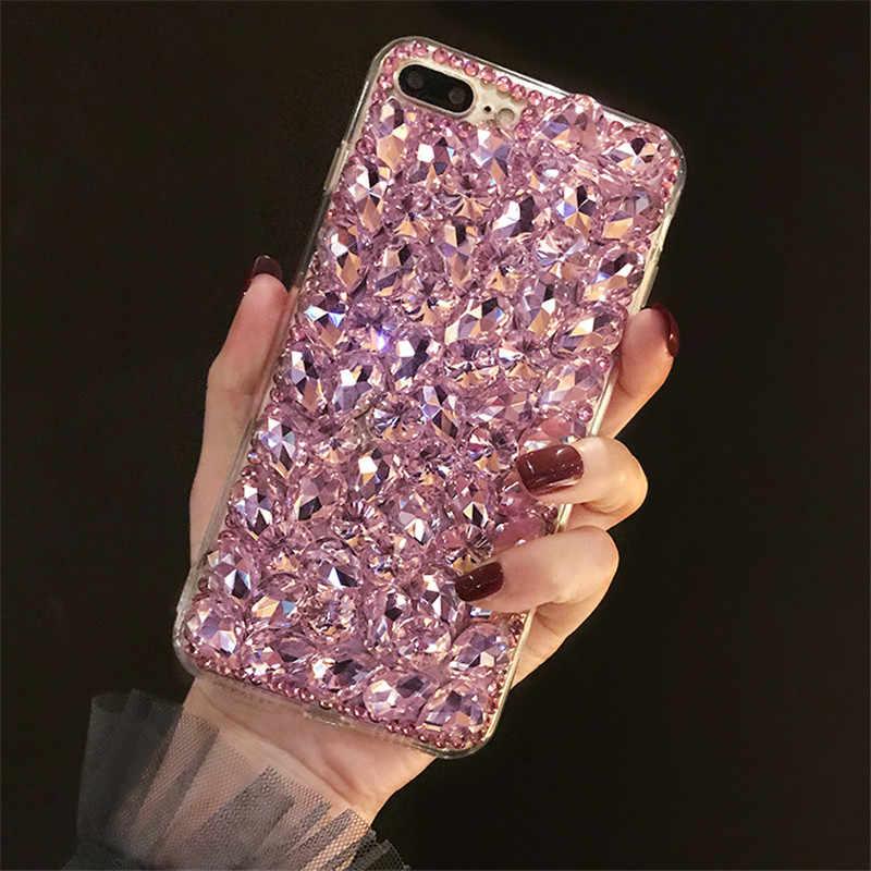 1 pièces Paillettes De Luxe En Cristal Strass Diamant étui de téléphone à paillettes Pour Cubot Puissance Nova J3 Pro X19 P20 X18 Plus R9 Arc-En-Ciel 2 H2 H3