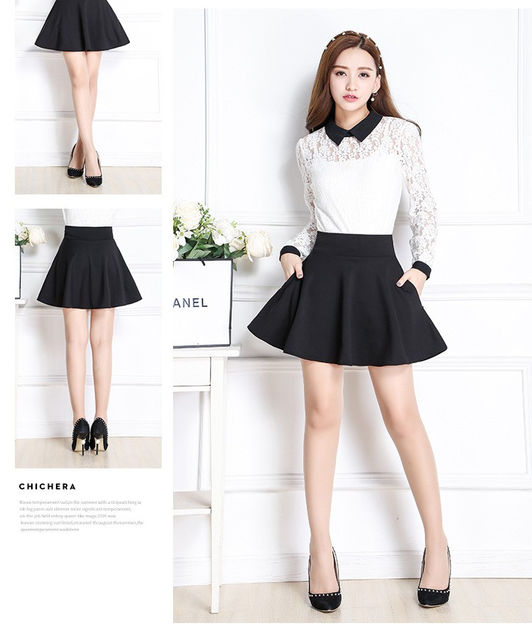 c7054578e New Style A-Line Skirt Women Short Skirts Summer and Spring Pleated Skirt  Womens Maternity Skirt with Pocket Falda. -2 01 02 03 04 05 06 ...