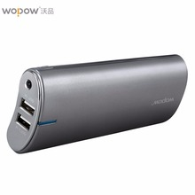 20100mAh Wopow LED Light Power Bank Dual USB Outport Portable Mobile Power Supply With Charging Indicate Light External Battery