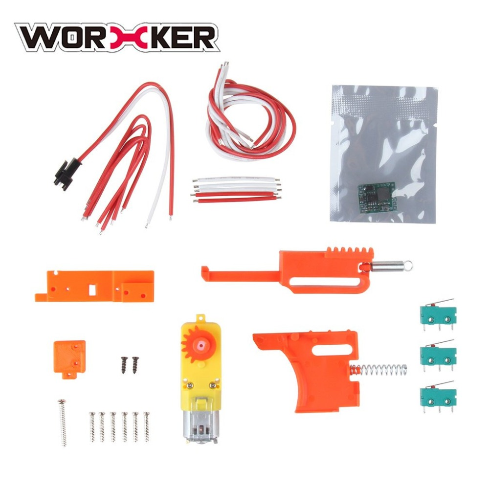 WORKER Fully Automatic Kit for Nerf Stryfe STF DIY Set Toy Gun Accessories Realize Single shot and Continuous Control