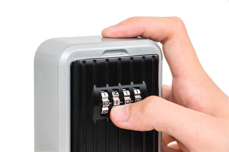 Key Safe Box Home Factory Office Outdoor Key Storage Box Wall-mounted Password Combination Security Keys Hold Lock Safes (7)