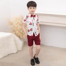 2019 Summer Children Clothing Factory Outlet Boy Wholesale Boys Kids Clothes Cotton  ALI 296