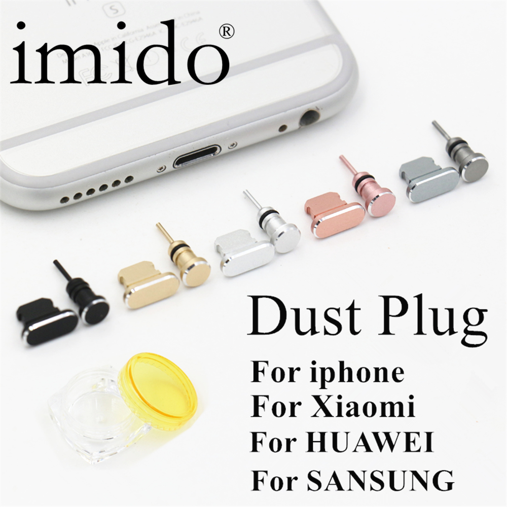 Fashion Metal Dust Plug Phone 2 in 1 For iphone 6 4.7/5.5inch Mobile phone Micro USB 3.5mm Sim Card Tray Eject Pin Tool Accessor