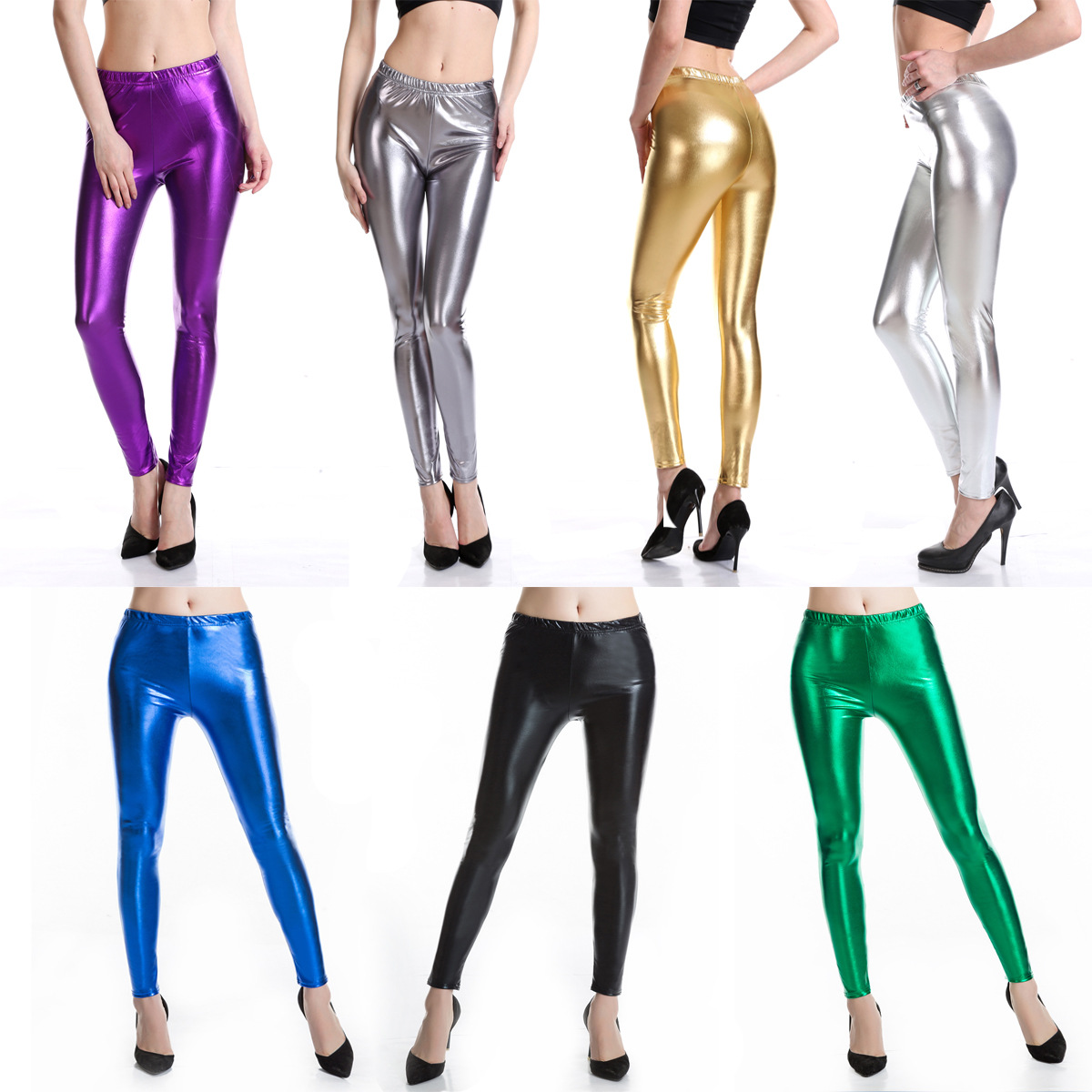 Women High waisted Long Fit Sexy Club Pencil Pants Streetwear Leather Clothes 2019 PU Ankle Length Hot New Trends autumn winter in Pants amp Capris from Women 39 s Clothing