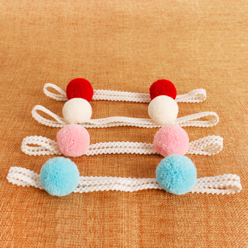 1PCS Sweet Simple Girls Hair Ball Headbands Newborn Infant Hair Accessories Children Elastic Hair Bands Kids Headwear Baby Gift kids bow headbands baby girls hair bands for newborn girls hair head band children multicolor hair accressories