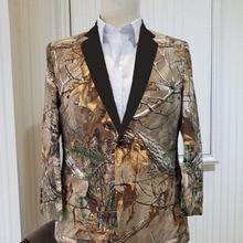 Realtree мужские камуфляжные костюмы блейзеры спортивное пальто Камуфляжный Смокинг пальто изготовление под заказ