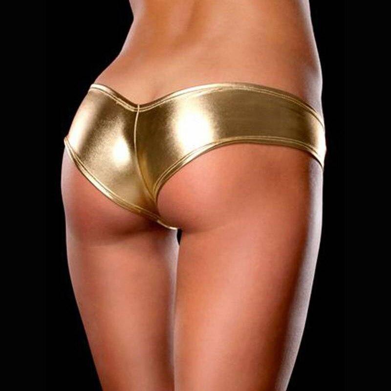 8 colore sexy delle donne del partito mini breve erotica wet look metallico lingerie g