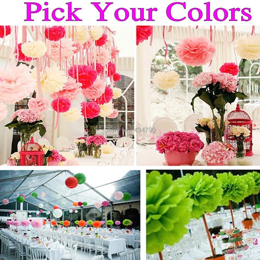 150pcs 1435cm Pick Your Colors Wholesale Tissue Paper Pom Poms