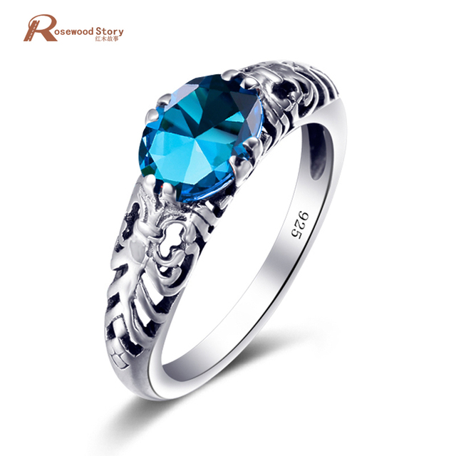 Famous Designer Knuckles Weapon Women 925 Sterling Silver Ring Blue Stone  Crystal Vintage Style Rings For Girls Victoria Wieck 3301cc7fa