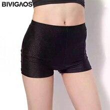 BIVIGAOS 3 цвета летние женские сексуальные короткие эластичные блестящие обтягивающие шорты женские эластичные спандекс короткие Г-жа горячие брюки мини шорты Безопасные брюки