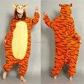 Одежда мягкой фланелевой мультфильм аниме животных Onesie пижамы тигр костюм ( тапочки не входит ) - хэллоуин карнавал ну вечеринку
