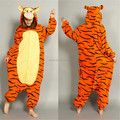 Soft Flannel Cartoon Anime Animal Onesie Pajama Tiger Costume (Slipper Not Included) - Halloween Carnival Party Clothing