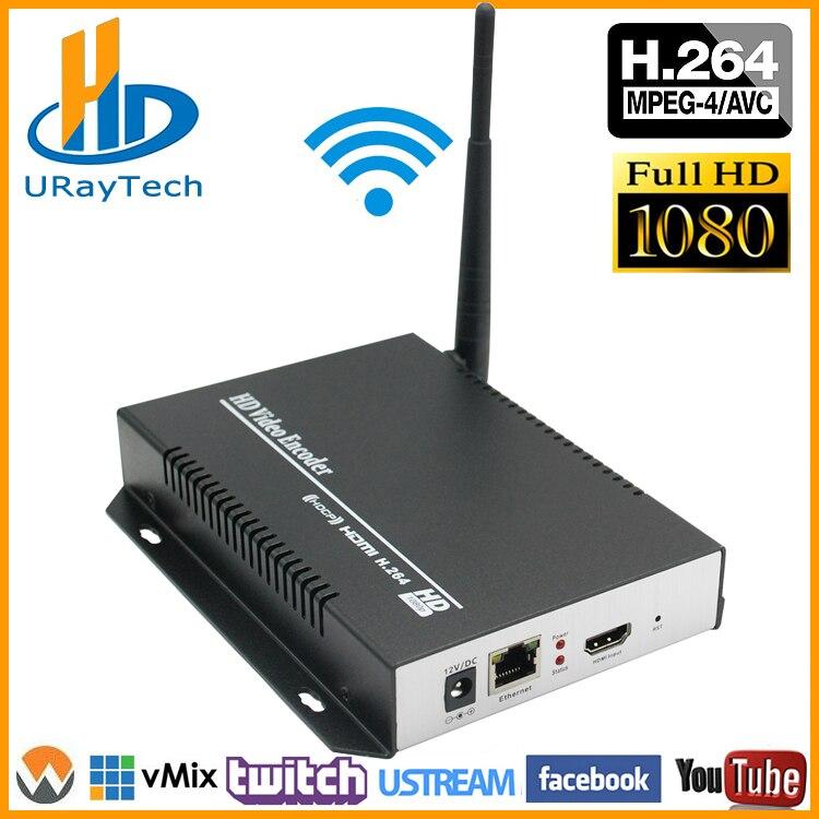 1080 p 1080I H 264 HDMI À LAN Encodeur Vidéo WiFi Flux En Direct Codeur Convertisseur HD Sans Fil Vidéo Audio Transmetteur