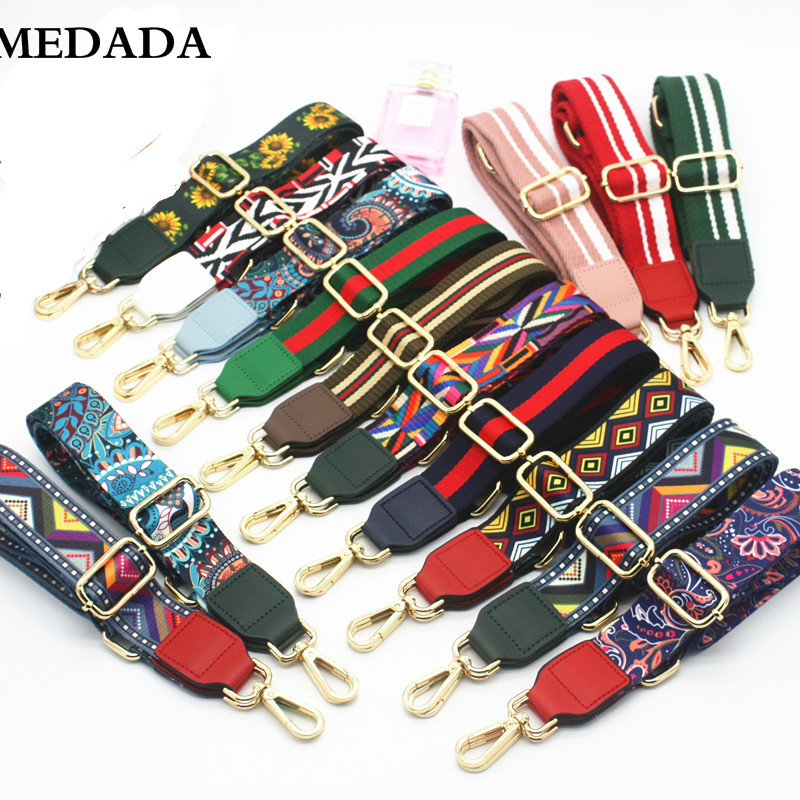 MEDADA  Fashion Colorful ShoulderStrap Nylon   Belt Bags Strap Accessories For Women Messenger Crossbody Bags