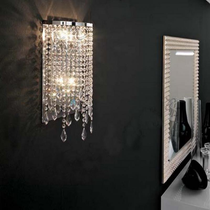 ФОТО 1 pcs Bathroom crystal light Led wall lamp Dressing room led Mirror lights abajur bedroom home indoor wall Sconce Free shipping