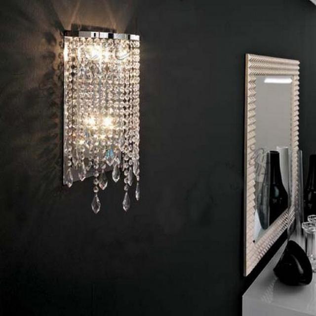 Modern K9 crystal wall light Led wall lamp for Dressing room led Mirror lights abajur bedroom Bathroom home indoor wall Sconce