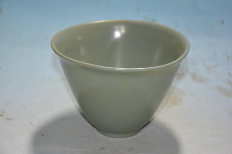 ⊹Rare Song Dynasty (961--1275) tazón de porcelana, horno de RU ...