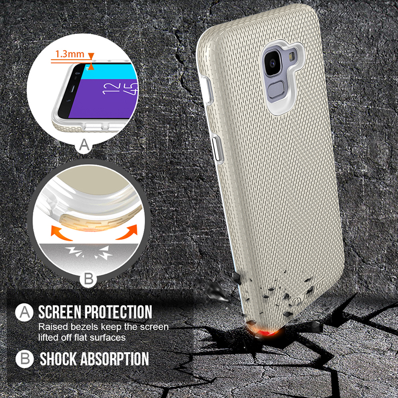 TOIKO X Guard 2 in 1 Armor Cases for Samsung Galaxy J6 J600F J600 SM J600F 2018 Cover Hybrid PC TPU Shockproof Protective Shell in Fitted Cases from Cellphones Telecommunications