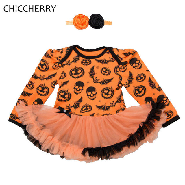 Halloween Costume For Baby Girl Clothes Long Sleeve Lace Romper Dress Headband Vestidos Infantis Robe Bebe Fille Girls Dresses