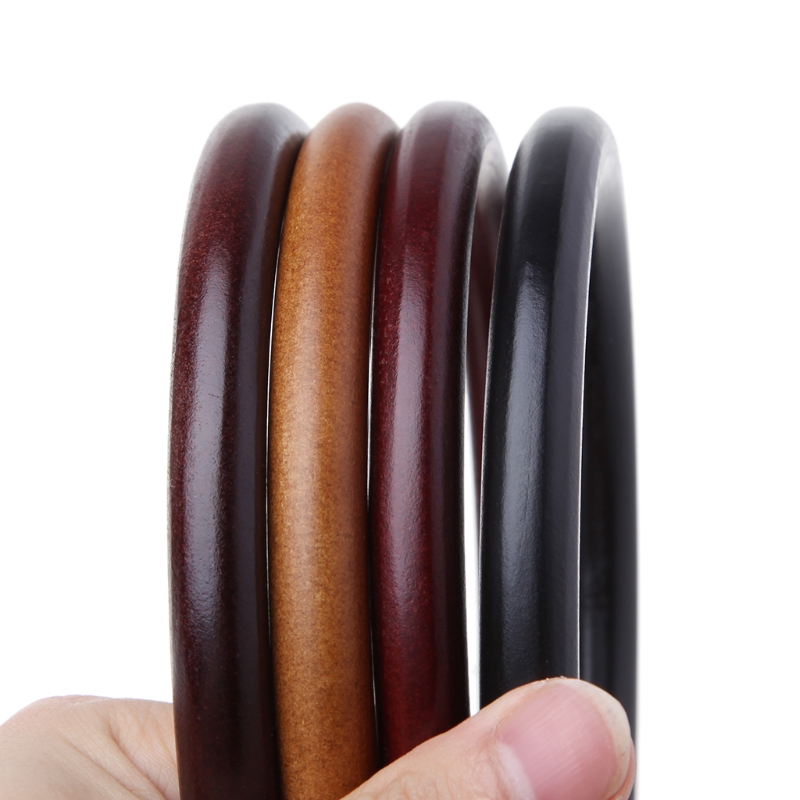 Round Wooden Handle for Handmade Handbag DIY Tote Purse Frame Making Bag Hanger(China)