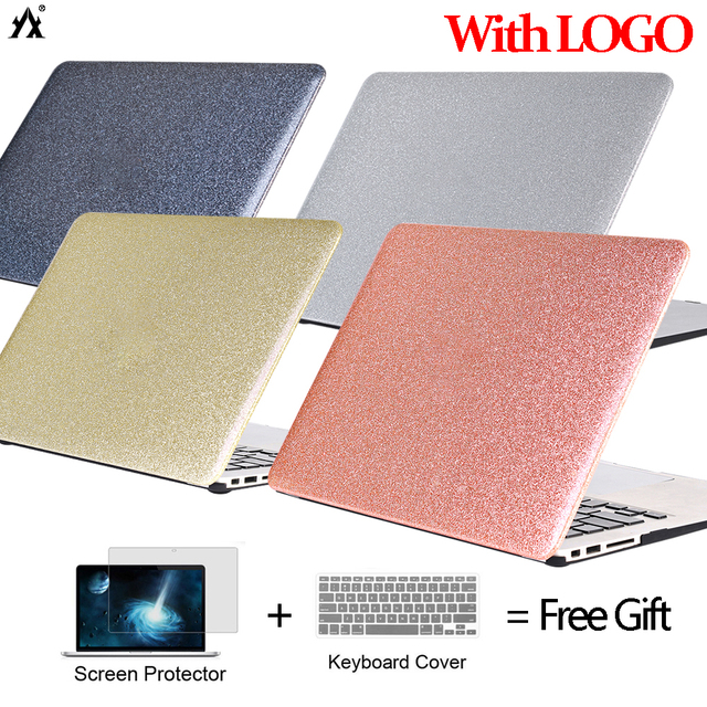 Shine Glitter Laptop Case For Macbook Air 13 A1369 A1466 A1932 2018 ,Air 11 Pro Retina 13 15 New touch bar A1989 A1990 Cover