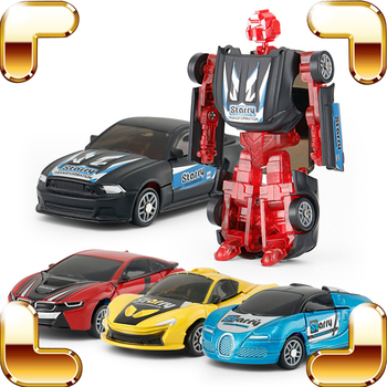 New Year Gift 1/64 RS Transform Robot Toys Car Learning Educational Game Assemble Creative Toy Kids Fun Present Static Model