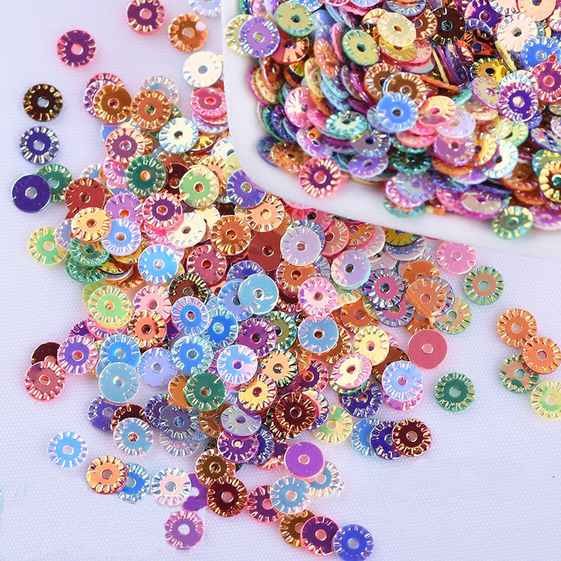 2000 Mixed Colour Cup Flower loose sequins Paillettes 8mm sewing Wedding craft