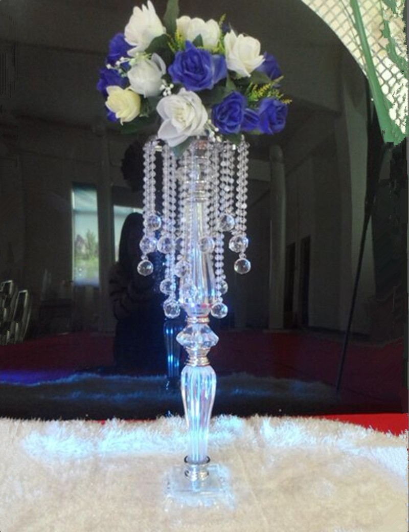 70cm 27 6inch Tall Crystal Flower Stand Gold Silver Flower Vases Metal Flower Chandelier Wedding Table Decoration Centerpieces Party Diy Decorations Aliexpress