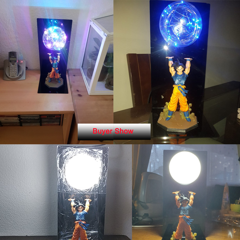 Factory Price Dragon Ball Son Spirit Explosion Bombs Night Lamp DBZ GOKU Bulb RGB Lamp Home Indoor Light 110V 220V 120V 240V EU