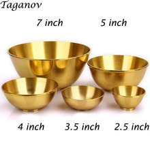Thick copper bowls water bowl golden ornaments tableware Home Furnishing Buddhist make offerings to Buddha decorate crafts