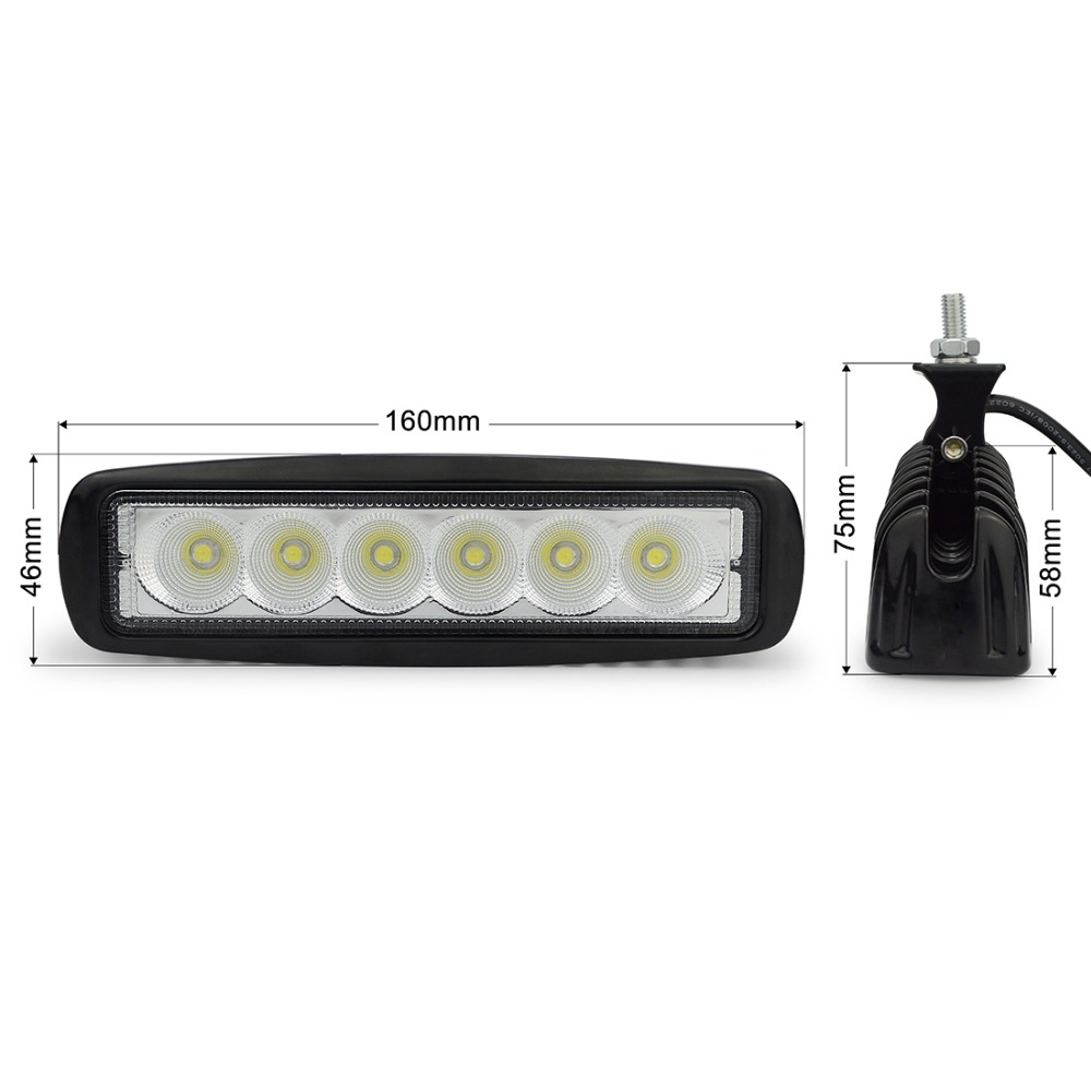 2pcs 6 ιντσών LED 18W LED εργασίας για - Φώτα αυτοκινήτων - Φωτογραφία 3