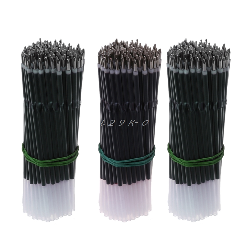 100Pcs 0.7mm Ballpoint Pen Refill Black Blue Red Pen Refill Stationery School Office Supply