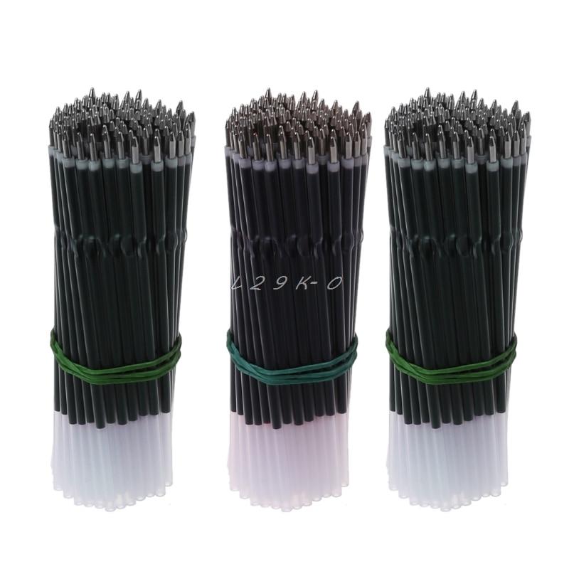 100Pcs 0.7mm Ballpoint Pen Refill Black Blue Red Pen Refill Stationery School Office Supply
