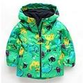 2016 Boy's Spring Cartoon Raincoat  Children Wind Rain Ski-wear Boys Hooded Jacket  Suitable 2-6 Year Old Boys Waterproof Coats