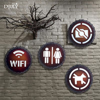 industrial Cap Toilet sign led wall lamp retro loft decor coffee store bathroom country dining room bar led wall sconces light