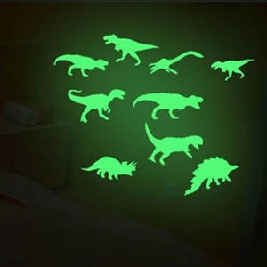 Santtiwodo 9Pcs Glow In The Dark Dinosaurs Toys Kid