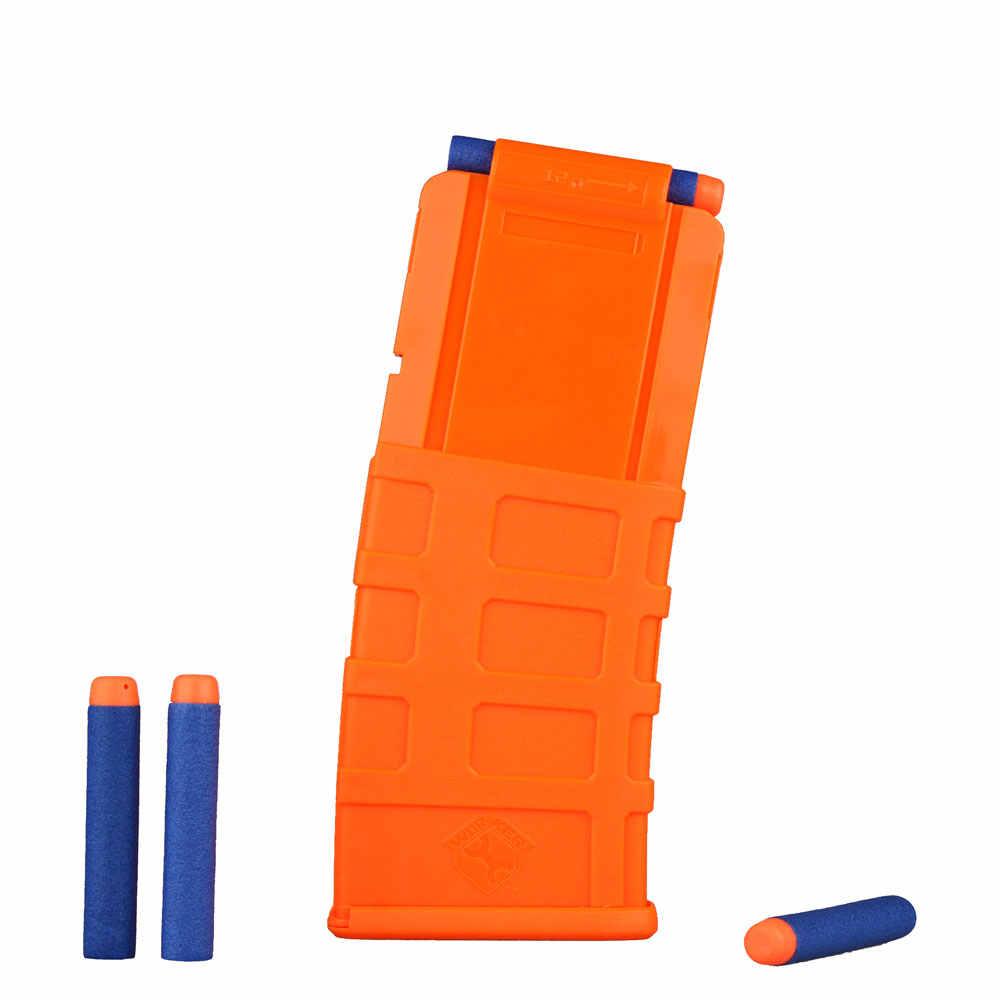 Рабочий 12-Dart Тактический зажим журнал быстрая Перезагрузка зажим для игрушечный пистолет nerf-прозрачный песочный цветной пистолет игрушки для детей мальчиков