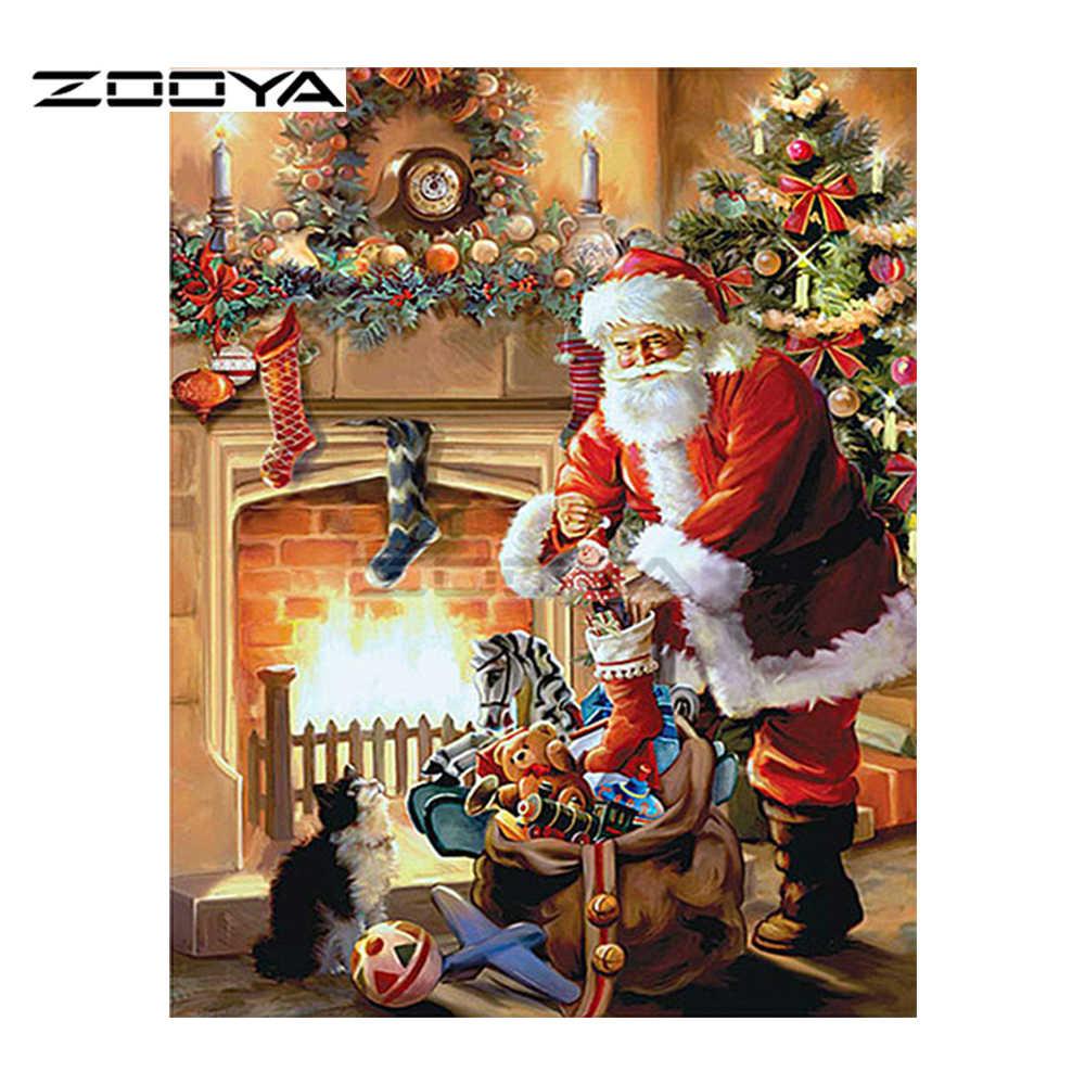 ZOOYA новый Санта Клаус мультфильм Алмазная картина мозаика Diamond вышитое домашнее украшение F1168
