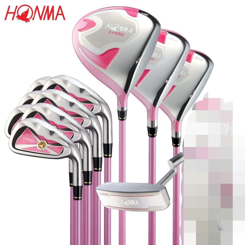 Playwell Honma U100 Lady golf full package set lady golf club set full set mini golf club set golf ball sport abs golf club for children golf table with flag kids sport game toy nice best gift children
