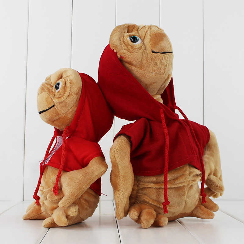 2Styles ET Extra Terrestrial Alien Stuffed Plush Doll With Hoodie Collectible Toys Birthday Gifts For Kids/ Babies 19cm-25cm