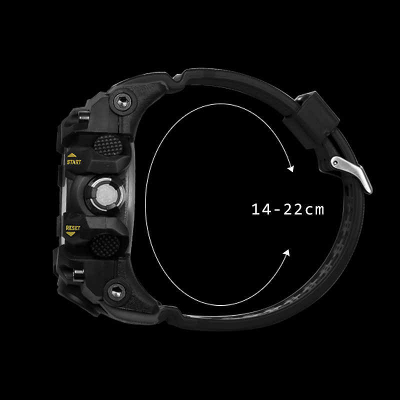 צבא שעונים מותג דיגיטלי תאורה אחורית Relogio Masculino שעון גברים צבאי LED שעוני יד 1545C צבאי שעון גברים עמיד למים