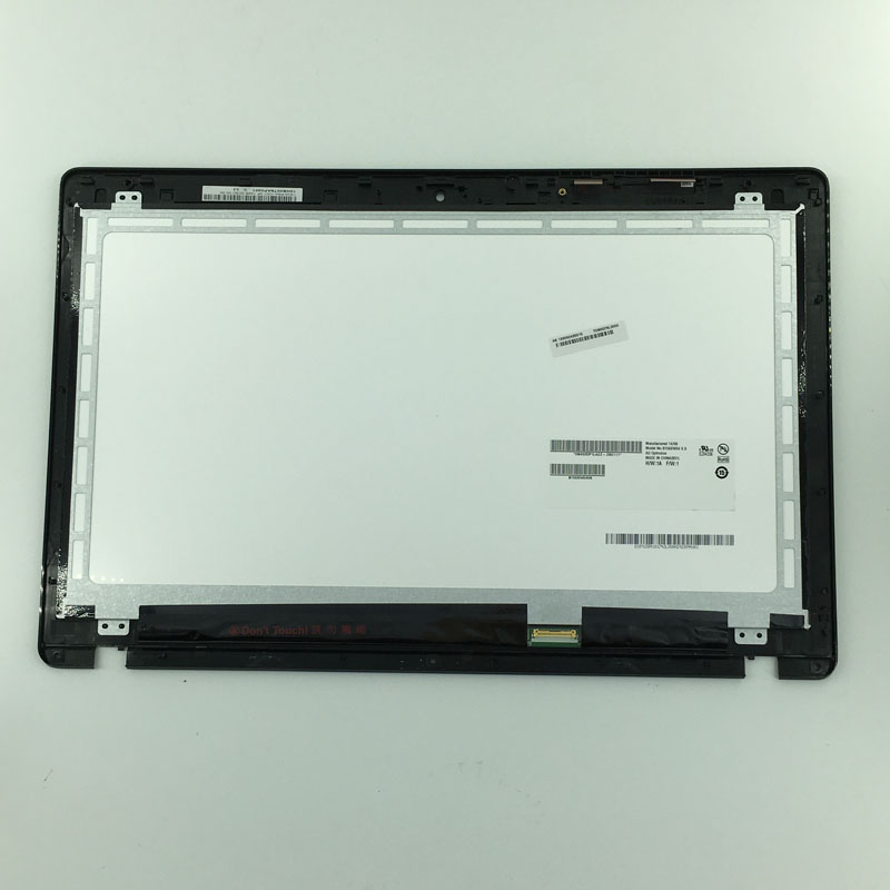 15.6 1366x768 LED LCD Display Monitor + Touch Panel Screen Digitizer Glass Assembly with frame For Asus X550C X550CA x550 lp133wh2 sp b1 for dell inspiron 13 7359 digitizer lcd touch screen assembly led display replacement 1366 768