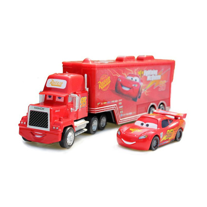 hot-sale-2pcs-cartoon-model-Truck-car-Toys-for-children-Mack-1-55-Diecast-Metal-Loose